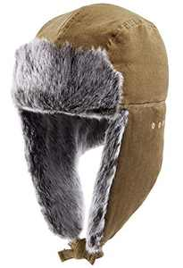 CAMEL CROWN Winter Trapper Hats for Men & Women Ushanka Warm Ear Flap Hunting Hat with Windproof Brown