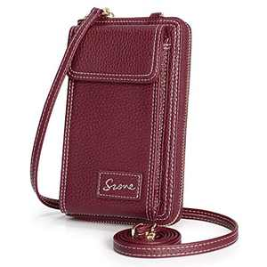 S-ZONE Women RFID Blocking Small Crossbody Cell Phone Purse Bag Wallet 2.0 Version