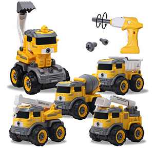 Karcermee Take Apart Construction Toys Assembled Vehicle, 5 in 1 Remote Control Toy, for Kids Over 3, 4, 5, 6, 7 Years Old.