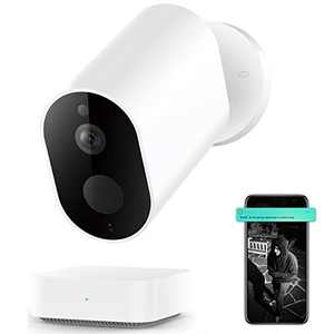 Outdoor Camera Wireless, IMILAB EC2 1080P FHD Home Security Camera System with Battery Wireless Security Infrared Gateway Night Vision IP66 Cloud Storage/Micro SD Card