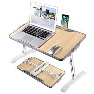 GENERAL ARMOR Laptop Table Bed Tray with Foldable Legs -Portable Lap Desk Table for Sitting Or Standing - Couch Bed Chair Sofa Lap Tray - Work from Home or Office - Homework Student Computer Stand