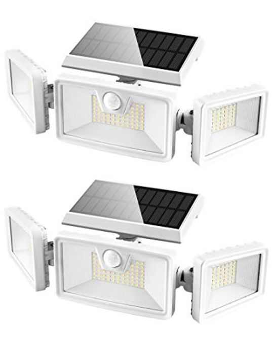 Otdair Solar Lights Outdoor, 132 LED Solar Security Lights with Motion Sensor IP 65 Waterproof Flood Lights Rotatable Wall Lights for Garden Garage Pathway Patio Yard Porch 2 Pack