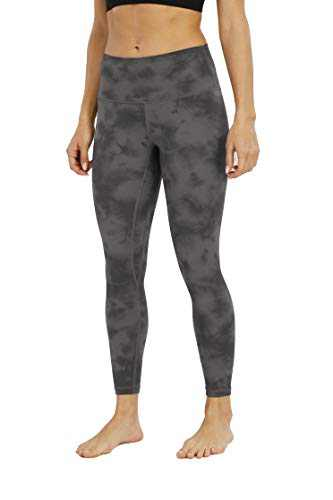 BOLIVO Women's Workout Yoga Printed Ultra Soft High Waist 7/8 Length Leggings (Diamond Dye Multi Grey,Large)
