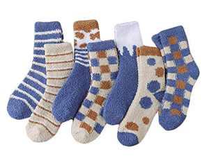 Women's Warm Fuzzy Fluffy Socks Super Soft Cozy 6 Pairs Sleeping Home Slipper Socks
