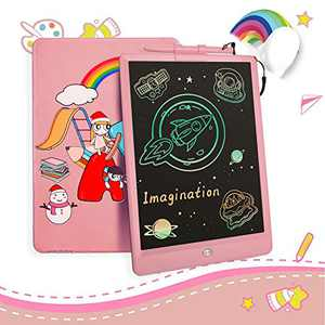 CIXI Toys for 5-6 Year Old Girls, 10 Inch Colorful Toddler Doodle Board Drawing Tablet, Educational and Learning Toy for 3+ Years Old Girls Erasable Reusable Writing Pad Kid Toys Birthday Gift, Pink