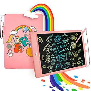 LUOHE Drawing Tablet for Kids Toys, 10 Inch Colorful Toddler Doodle Board Drawing Pad, Erasable Electronic Drawing Pads, Kids Early Educational Learning Toys for 3-6 Years Old Boys Girls Gifts, Pink