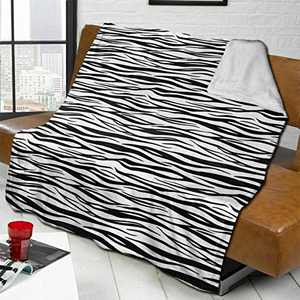 """ANANGTEE 50x60 Awesome Nightmare Black White Stripes Blanket Fluffy Flannel, Soft Space Fleece Double Sided Throw Blankets for Couch Sofa Teens Travel Camper Gift Cozy Bed 60""""X50"""""""