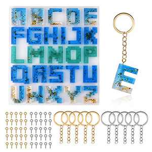 ORMAN Alphabet Resin Silicone Molds, Letter Epoxy Molds Keychain Resin Jewelry Molds for Women DIY Crafting Home Decoration