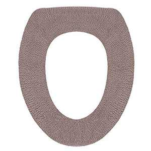 ETBIENTÔT Soft & Warm Toilet Seat Covers, Comfy Bathroom Seat Pad in Cold Winter, Washable Elastic Cloth Seat Cushion (Brown)