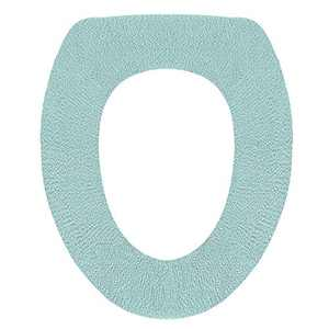 ETBIENTÔT Soft & Warm Toilet Seat Covers, Comfy Bathroom Seat Pad in Cold Winter, Washable Elastic Cloth Seat Cushion (Aqua green)