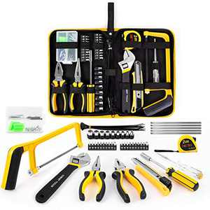 Household Tool Kit, 108 Piece Kitchen Home Repair Tool Set with Easy Carrying Pouch, Perfect for Homeowner, Diyer, Handyman