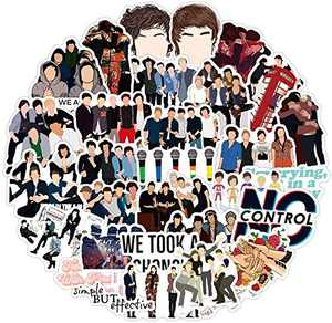 One Direction Singer Stickers for Laptop, 50pcs No Control Music Waterproof Vinyl Trendy Stickers Pack for Water Bottle, Luggage, Decal for Adults, Teens 50pcs