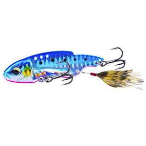 Goture 1PC Hard Metal VIB Lures Jigging Spoons Bass Trout Walleye Spinner Blade Swimbaits Set for Saltwater & Freshwater