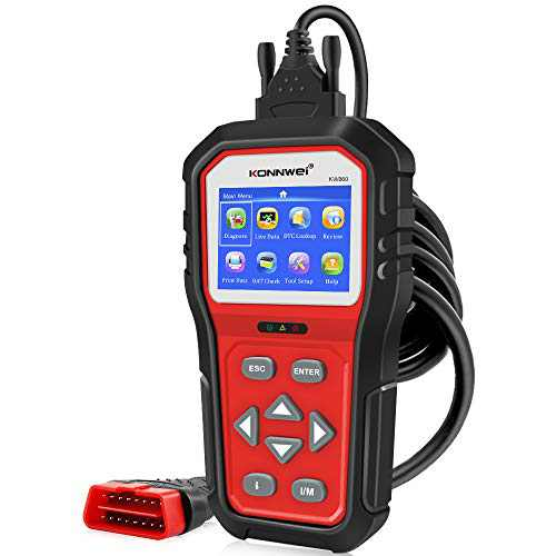 KONNWEI KW860 OBD2 Scanner Car Code Reader Diagnostic Scan Tool with Enhanced Live Data Stream and Upgraded Graphing Battery Status Check Function