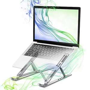 Bixme Portable Laptop Stand, 7 Angle Adjustable Computer Stand for Desk, Aluminum Laptop Riser Perfect Compatible with Different Brands Like MacBook, Acer, Dell, HP Under 15.6 inch.