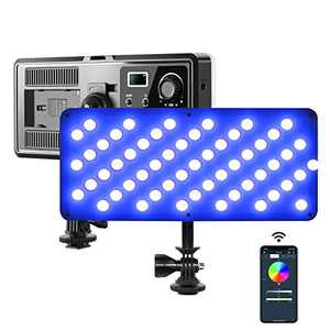 GVM RGB On Camera Light, LED Video Light 360° Full Color 8 Common Light Effects, Zoom Call Lighting with APP Control, 2700K-10000K Bicolor Continuous Mini Panel for Photography, Studio, YouTube