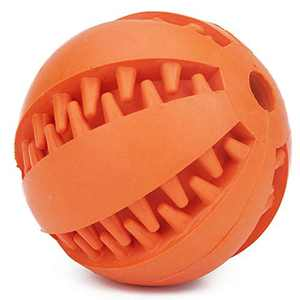 Dog Toys Small Dogs Ball Cat Chew Toy Silicone Pet Toys Ball for Dogs Molar Toy Ball Bite Resistant Clean Teeth Food Treat Feeder Iq Training Ball Nontoxic Bite Resistant