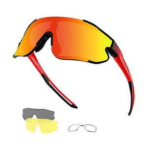 Xiyalai Cycling Sunglasses Sports Sunglasses,Polarized Sunglasses for Men Women,with 3 Interchangeable Lenses,Baseball