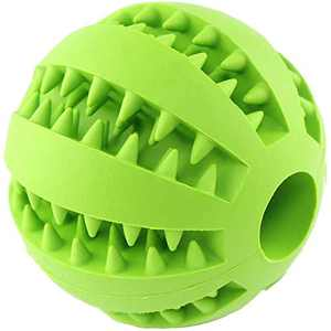 Dog Toys Small Dogs Ball Cat Chew Toy Silicone Pet Toys Ball for Dogs Molar Toy Ball Bite Resistant Clean Teeth Food Treat Feeder Iq Training Ball Nontoxic Bite Resistant (Diameter 2.7 inch Green)