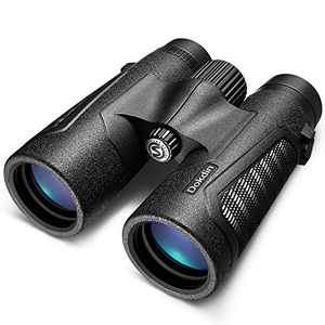 Dokdin 12x42 Binoculars for Adults,18mm Large View Eyepiece Binoculars for Bird Watching Travel Hunting Camping Outdoor Sports Games Concerts-BAK4 Prism FMC Lens HD Binoculars with Carrying Bag