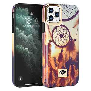 NIAFEYA for iPhone 11 Pro Max 6.5 Inches Defender Case Cute Flower Floral Pattern for Women Girls Heavy Duty Shockproof Anti-Scratch Hard PC Soft Silicone Rubber Slim Protective Cover (Dreamcatcher)