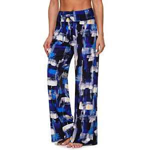 Women's Comfy Casual Pajama Pants – Plaid Lounge Pants Drawstring Wide Leg
