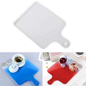 DIY Resin Serving Board Molds for Epoxy Resin, Silicone Tray Serving Platter Casting Mold for Home Office