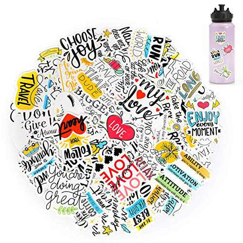 50 Pcs Inspirational Stickers for Adults, Motivational Laptop Stickers for Students, Teens,Teachers and Employees, Waterproof Vinyl Positive Stickers for Water Bottles