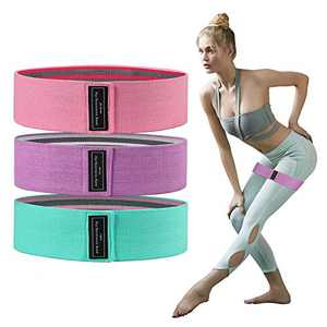 Secmote Resistance Bands for Legs Butt Glute Squats Stretch, Elastic Workout Loop Exercise Bands for Home Fitness, Strength Training, Physical Therapy, Yoga (3 Pack)