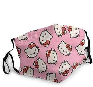 Face Cover Up Hello Kitty Washable Breathable Multi Usagemasks Kawaii Face Mouth Mask for Men Women