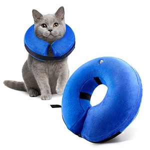 Yooumoga Protective Inflatable Collar for Dogs and Cats E-Collar Soft Pet Recovery Collar Prevent Dogs from Biting & Scratching Adjustable Velcro (XS)