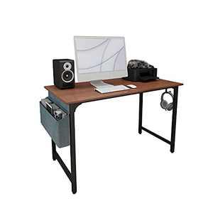 IMMWOOD Computer Desk 40 inch   Home Office Desks with a Storage Bag   Modern Laptop Desk, Brown