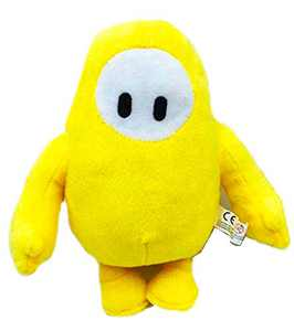 18 cm Fall Plush Toys Soft Cartoon Figure Dolls Kids Stuffed Animal Plushie Fall Bedroom Decoration Toy Collection (Yellow)