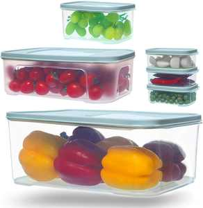 Citylife 6 Set Food Storage Container Containers with Lids Airtight Fridge Storage Cereal Flour Container Plastic Container Sets Kitchen Pantry Storage for Food