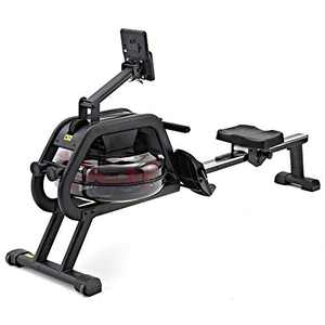 HouseFit Water Rower Rowing Machines for Home use 330Lbs Weight Capacity Row Machine Exercise with LCD Display and iPad Phone Mount