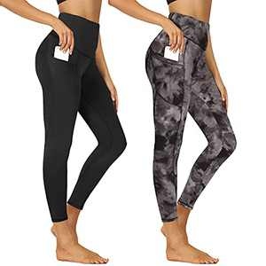 High Waisted Yoga Pants for Women - Butt Lift with Pockets Tummy Control Strectchy Soft Leggings for Athletic Workout