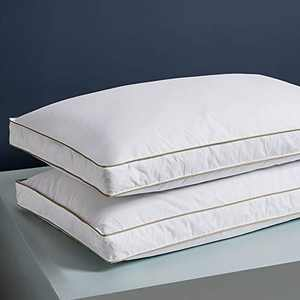 Decroom Premium Natural Goose Down Pillows, Luxury Hotel Gusseted Feather Bed Pillow for Sleeping with Breathable Cotton Cover, King Size Pack of 2