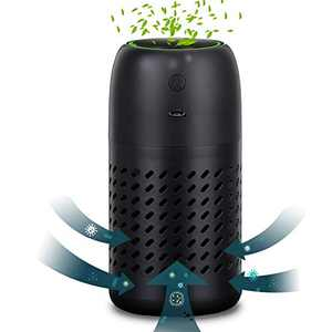 Aibrisk HEPA Air Purifier Air Filter Eliminates Odor Smoke, Dust, Pollen, Pet Dander Air Cleaner for Car, Home, Bedroom, Office and Kitchen, Black
