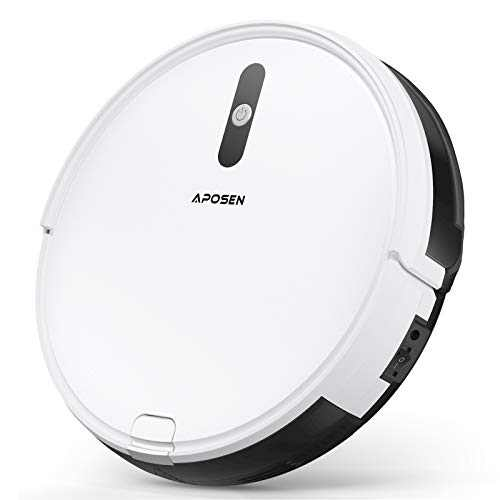 "Robotic Vacuum, APOSEN Robot Vacuum Cleaner, Self-Charging, 2.7"" Ultra Slim and Quiet, with Multiple Cleaning Modes, Ideal for Pet Hair, Hard Floors and Low-Pile Carpets, A450"