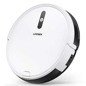 """Robotic Vacuum, APOSEN Robot Vacuum Cleaner, Self-Charging, 2.7"""" Ultra Slim and Quiet, with Multiple Cleaning Modes, Ideal for Pet Hair, Hard Floors and Low-Pile Carpets, A450"""