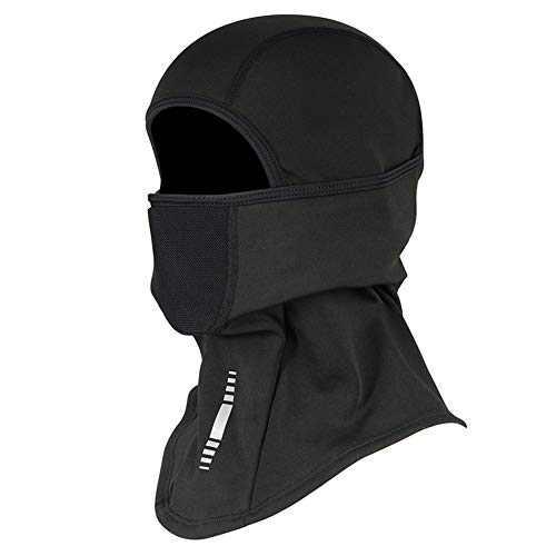 Balaclava Face Mask Winter Fleece Thermal Ski Mask, Windproof Dustproof Breathable Bandana Snowboarding Skiing Neck Warmer Hood for Men Women Black