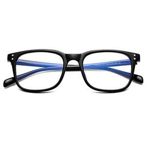 AZORB Blue Light Blocking Glasses Clear Lens Square Frame Anti Blue Ray Computer Game Glasses (Black)