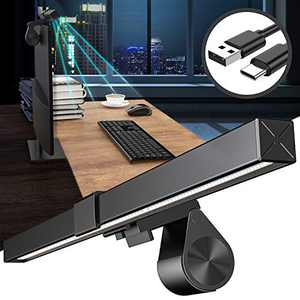 Computer Monitor Light, Snoky Screen Monitor Light Bar No Glare Eye Care e-Reading LED Task Desk Lamp USB-C Powered Office Lamp 5 Modes Brightness Color Temperature Adjustable 6.5ft Power Cable