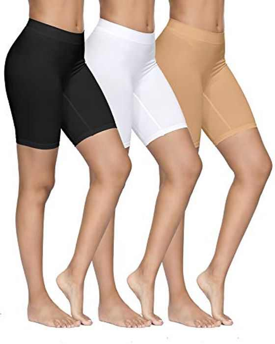 YADIFEN 3 PACK Womens Safety Shorts Anti Chafing Long Briefs Underwear Seamless Panties for Under Dresses Yoga Running Sports Leggings