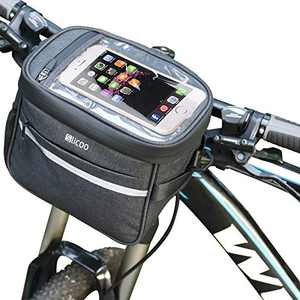 Slicoo Handlebar Bag Bike Packing Bags Front Bicycles Bike Packing Accessories 4.5L, Bicycle Pannier Frame Bag (with Rain Cover)