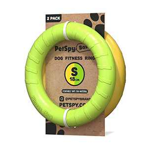 Dog Training Ring for Outdoor Fitness Floatable Pulling Toy and Flying Disc Interactive Play Tool for Small Medium Large Dogs, 2 Pack