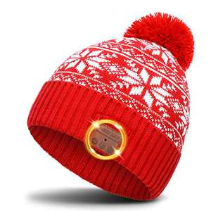 Bluetooth Beanie Winter Knitted Red Hat Valentines Day Gifts for Women Her Him Stocking Stuffer Gifts for Teenage Girls