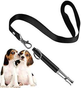HEHUI Dog Whistle, Dog Whistle to Stop Barking, Adjustable Frequencies Ultrasonic Dog Training Whistle, Long Range Silent Dog Whistle for Recall, 1 Pack Whistle with Free Lanyard Strap, Black