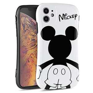 DISNEY COLLECTION iPhone 11 Case 6.1 Inch, Disney Cute Cartoon Pattern Small Waist Design Hard PC Shield+Soft TPU Bumper Shockproof Protective Cover for iPhone 11 (Mickey White)
