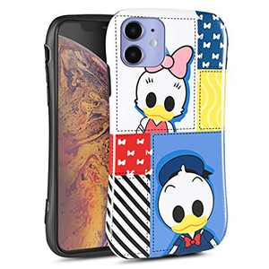 DISNEY COLLECTION iPhone 11 Case 6.1 Inch, Disney Cute Cartoon Pattern Small Waist Design Hard PC Shield+Soft TPU Bumper Shockproof Protective Cover for iPhone 11 (Donald Duck)